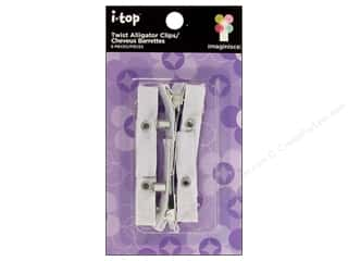 Imaginisce Metal Embellishments: Imaginisce i-top Alligator Clips Twist 6pc