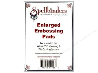 Spellbinders Embossing Aids: Spellbinders Embossing Pads Enlarged Tan 2pc