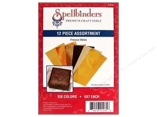 Metal & Tin paper dimensions: Spellbinders Premium Craft Foil Precious Metals 12 pc.