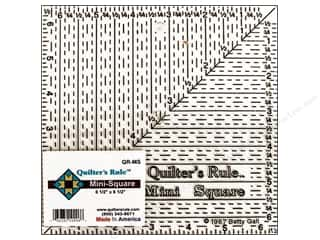 "Templates $5 - $6: Quilter's Rule Ruler Mini Square 6.5""x 6.5"" Black"