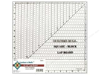 "Quilter's Rule Ruler Lap Board Square 12.5"" Black"