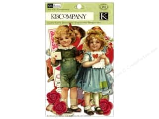 K&amp;Co Die Cut Cardstock KP Valentine Ephemera