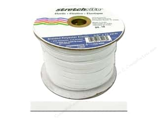 Stretchrite Braided Elastic Flat 3/8 in. x 75 yd White (75 yards)