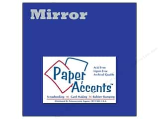 Paper Accents 13 in: Cardstock 12 x 12 in. Mirror Blue by Paper Accents (25 sheets)