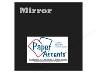 Paper Accents Cards: Cardstock 12 x 12 in. Mirror Black by Paper Accents (25 sheets)