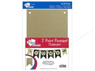 "Paper Accents Chipboard Pennants 2 Point 5""x 8"" Natural 9pc"