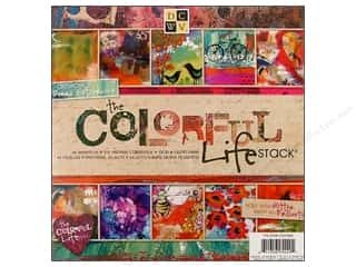 DieCuts Paper Stack 8 x 8 in. Colorful Life