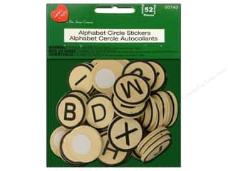 Lara's Wood Stickers Alphabet Circle 52pc.