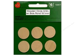 Stains $4 - $6: Lara's Wood Circle 3/4 in. 6 pc.