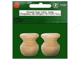 Lara's Wood Dowel Cap 1/2 in. Hole 2 pc.