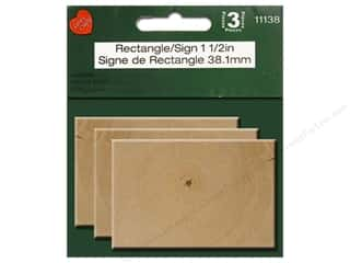 "Lara's Wood Rectangle Sign 1.5"" 3pc"