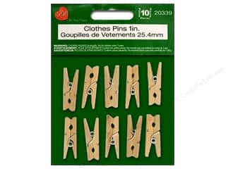 "Lara's Wood Mini Clothespins 1"" 10pc"