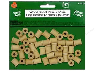 Lara's Wood Spool Value Pack 1/2 x 5/8 in. 47 pc.