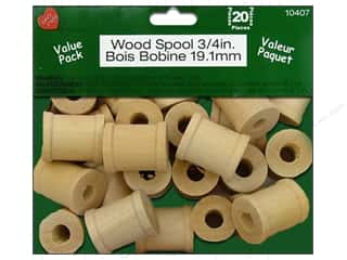 "Lara's VP Wood Spool .75"" 20pc"