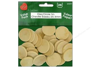 "Lara's VP Wood Circle 1"" 26pc"