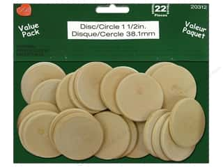 Lara's: Lara's Wood Circle Value Pack 1 1/2 in. 22 pc.