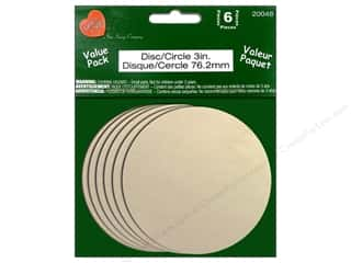 "Lara's VP Wood Circle 3"" 6pc"