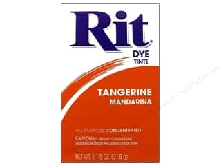 Rit Dye Powder: Rit Dye Powder 1 1/8oz Tangerine