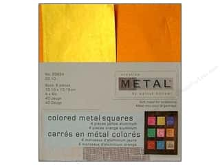 Creative Metal Aluminum Squares 4 in. Yellow & Orange