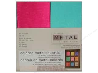 Creative Metal Aluminum Squares 4 in. Fuchsia & Blue
