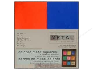Creative Metal Aluminum Squares 4 in. Red &amp; Dark Blue