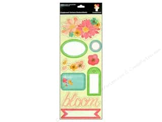 Spring Stickers: Imaginisce Stickers Garden Party Chipboard May Flowers