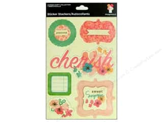 Imaginisce Stickers Garden Party Tags Poppin Petals