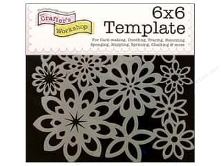 Craft & Hobbies: The Crafter's Template 6 x 6 in. Flower Shower