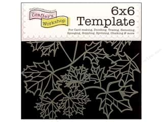 The Crafters Workshop Template 6x6 Maple Leaves