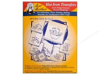 "Towels 24"": Aunt Martha's Hot Iron Transfer #4014 Red Baby Chicks"
