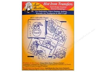 Hemming Aunt Martha's Towels: Aunt Martha's Hot Iron Transfer #4015 Red Adorable Puppy