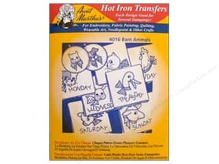"Towels 24"": Aunt Martha's Hot Iron Transfer #4016 Red Barn Animals"