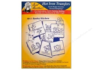 Yarn & Needlework Brown: Aunt Martha's Hot Iron Transfer #4017 Blue Kooky Kitchen