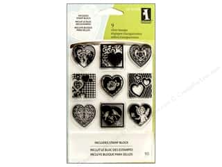 Inkadinkado Clear Stamp Inchies Hearts