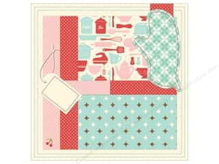 Clearance Blumenthal Favorite Findings: K&Co Paper 12x12 Suburban Bliss Stitched Oven Mitt (12 sheets)