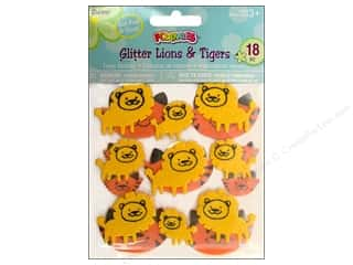 Clearance Darice Foamies Sticker: Darice Foamies Sticker Glitter Lions &amp; Tigers
