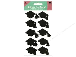 Jolee's Boutique Stickers Large Graduation Cap Black