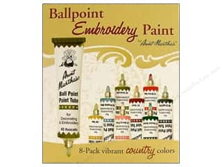 Fabric Painting & Dying Aunt Martha's Ballpoint Paint Tubes: Aunt Martha's Ballpoint Paint Set 8 pc. Country
