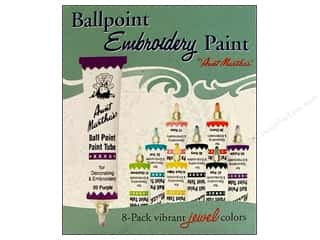 Fabric Painting & Dying Aunt Martha's Ballpoint Paint Tubes: Aunt Martha's Ballpoint Paint Set 8 pc. Jewel