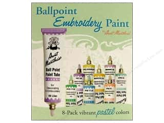 Aunt Martha Craft & Hobbies: Aunt Martha's Ballpoint Paint Set 8 pc. Pastel