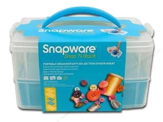 Organizers $6 - $10: Snapware Snap 'N Stack Medium Rectangle 2 Layer 1 Divided