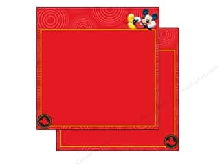 "Licensed Products EK Paper 12x12: EK Paper 12""x 12"" Bulk Disney Mickey Red Frame (25 sheets)"