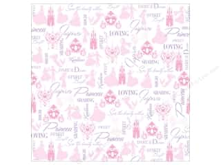 "Licensed Products Scrapbooking & Paper Crafts: EK Paper 12""x 12"" Bulk Disney Heart Princess Silhouette (25 sheets)"