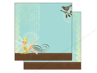 "Scrapbooking Angels/Cherubs/Fairies: EK Paper 12""x 12"" Bulk Disney Tinker Bell With Bird (25 sheets)"
