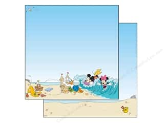 EK Paper 12x12 Disney Mickey Beach (25 sheets)