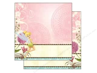 "Angels/Cherubs/Fairies Licensed Products: EK Paper 12""x 12"" Bulk Disney Tinker Bell Scallop Border (25 sheets)"
