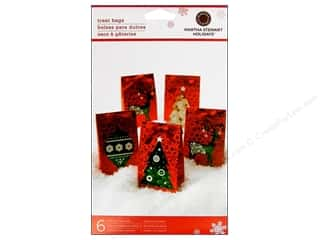 Martha Stewart Treat Bag Scandinavian Ornament 6pc