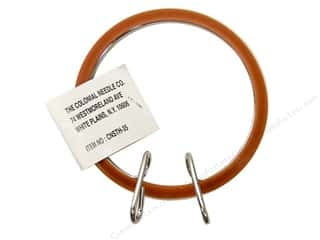 "Colonial Needle Brown: Colonial Needle Spring Tension Hoop 3.5"" Plastic"