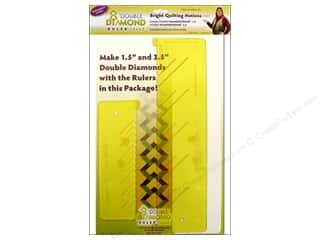 Notions: Bright Quilting Notions Ruler Double Diamond