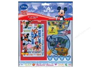 "Snow Texture Weekly Specials: EK Page Kits 8""x 8"" Disney Mickey Vacation"